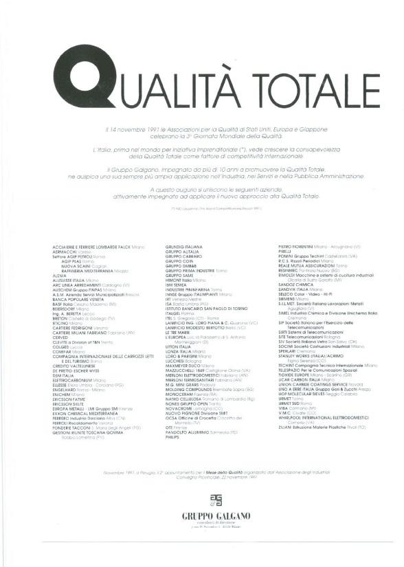 Campagna Nazionale Qualità 1991