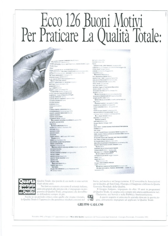 Campagna Nazionale Qualità 1992