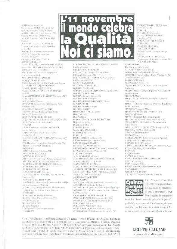 Campagna Nazionale Qualità 1993