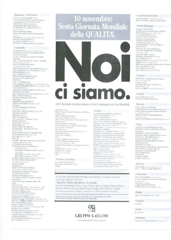 Campagna Nazionale Qualità 1994