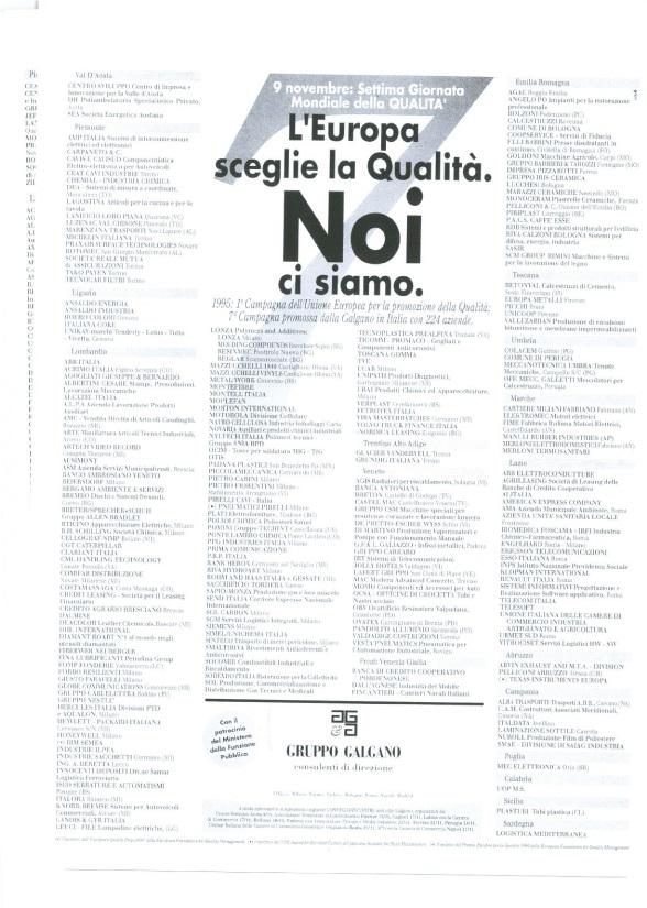 Campagna Nazionale Qualità 1995