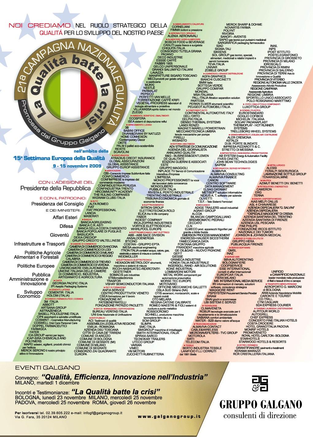 Campagna Nazionale Qualità 2009