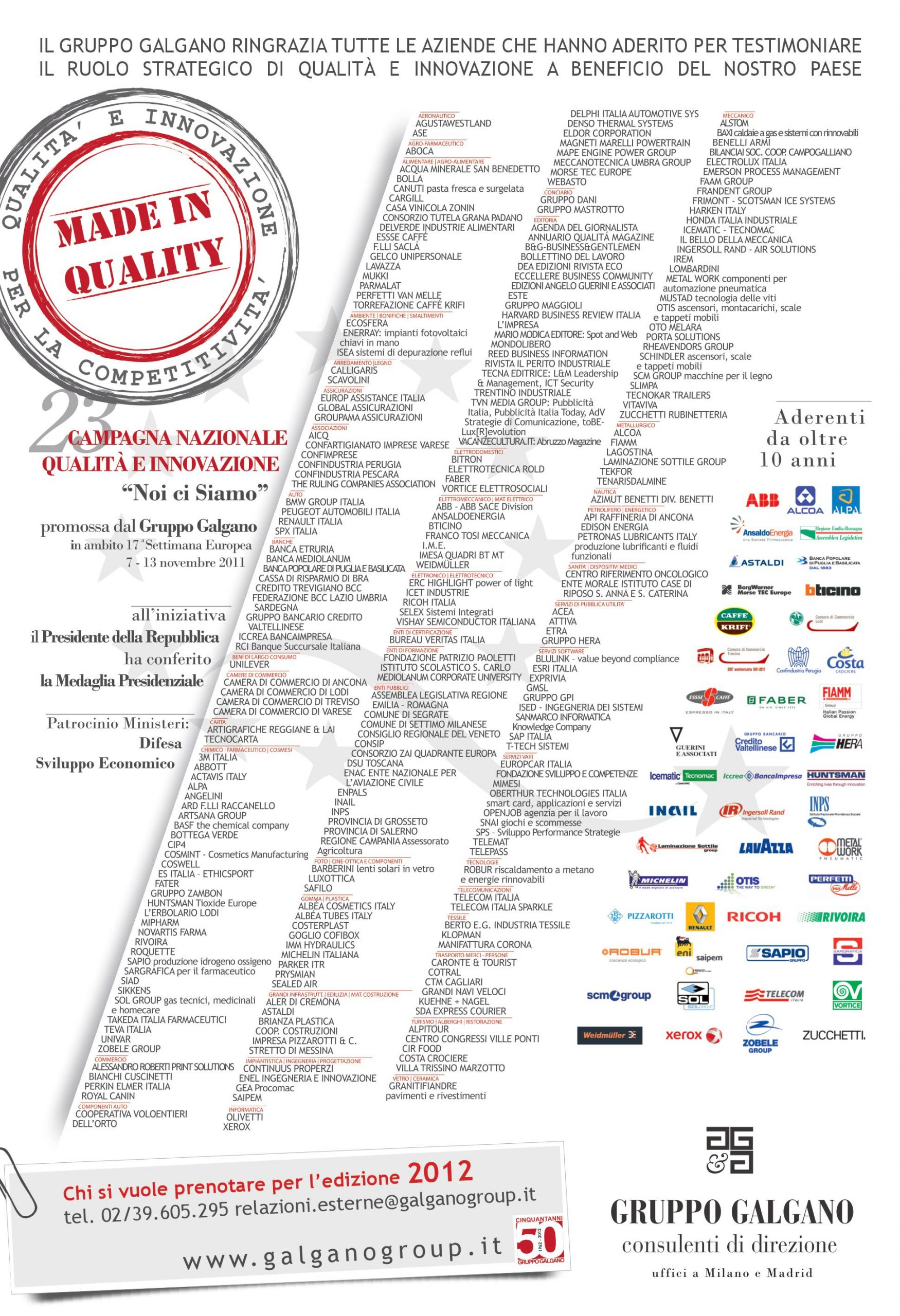 Campagna Nazionale Qualità 2011